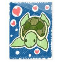 Astra Art Cute Crayon Turtle 11-Inch x 14-Inch Acrylic Wall Art