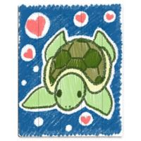 Astra Art Cute Crayon Turtle 11-Inch x 14-Inch Metal Wall Art