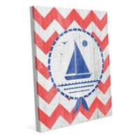 Astra Art Blue Ship 20-Inch x 24-Inch Canvas Wall Art