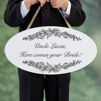 Write Your Own Wedding Oval Wood Sign