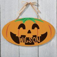 Happy Jack O' Lantern Oval Wood Sign