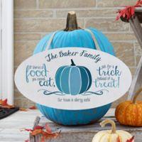 Halloween Teal Pumpkin Oval Wood Sign