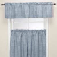 Gingham Tailored Valance in Blue