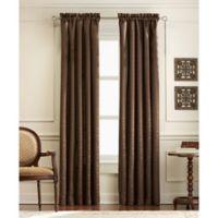 Mercato 63-Inch Rod Pocket Window Curtain Panel in Chocolate