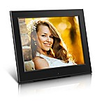 Aluratek 8-Inch Slim Slideshow Digital Photo Frame in Black