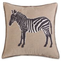 Levtex Home Marais Zebra Square Throw Pillow in Natural