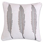 Levtex Home Marais Feathers Square Throw Pillow in White/Silver