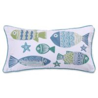 Levtex Home Kos Fish Oblong Throw Pillow in Blue/White