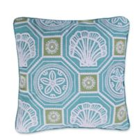 Levtex Home Kos Shells Square Throw Pillow in Blue
