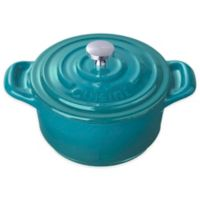 La Cuisine 4-Inch Mini Round Cast Iron Casserole in Teal
