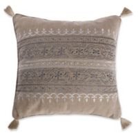 Levtex Home Marcell Burlap Square Throw Pillow in Natural