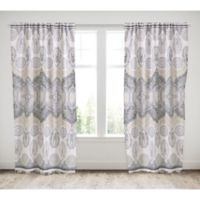 Levtex Home Marcell 84-Inch Rod Pocket Window Curtain Panel in Blue/Tan