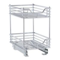 Household Essentials® Glidez 11.5-Inch Sliding Under Cabinet 2-Tier Organizer in Chrome