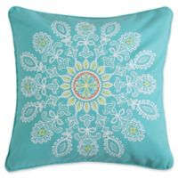 Levtex Home Kaitlyn Medallion Square Throw Pillow in Blue