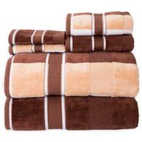 Nottingham Home Oakville Velour Bath Towels in Chocolate (Set of 6)