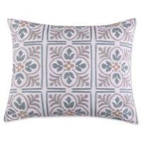 Levtex Home Sherie Tile Medallion Oblong Throw Pillow in Grey