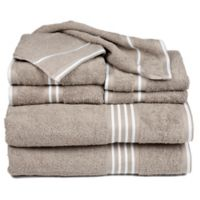 Nottingham Home Rio Bath Towels in Taupe (Set of 8)