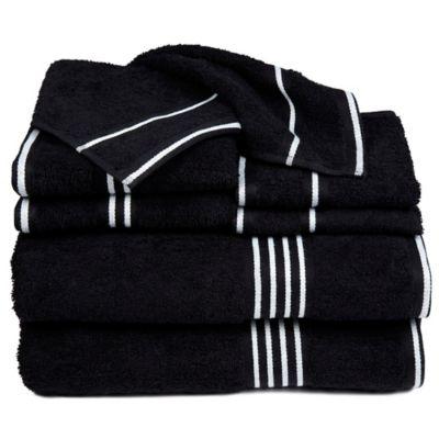 Nottingham Home Rio Bath Towels In Black Set Of 8