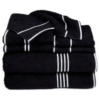 Nottingham Home Rio Bath Towels in Black (Set of 8)
