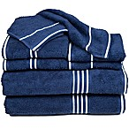 Nottingham Home Rio Bath Towels in Navy (Set of 8)