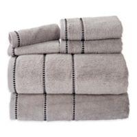 Nottingham Home 6-Piece Quick Dry Zero Twist Towel Set in Silver/Black