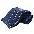 Nottingham Home 2-Piece Quick Dry Zero Bath Sheet Set in Navy/White