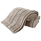 Nottingham Home 2-Piece Quick Dry Zero Bath Sheet Set in Taupe/Black