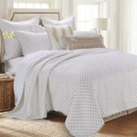Levtex Home Anna King Quilt Set in White/Gold