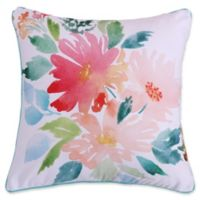 Levtex Home Nadya Floral Square Throw Pillow in Pink/White