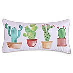 Levtex Home Nadya Cactus Oblong Throw Pillow in White