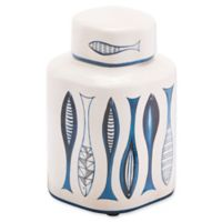 Zuo® Small Fish Temple Jar in Blue/White