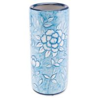 Zuo® Modern Flower Umbrella Stand in Blue and White