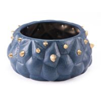 Zuo® Modern Cac tus Bowl in Blue/Gold