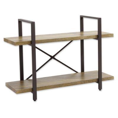Danya B.™ Two Level Rustic Shelving Unit