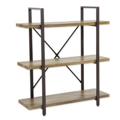 Danya B.™ Three Level Rustic Shelving Unit