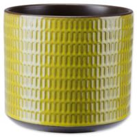 Zuo® Large Cylinder Planter in Olive Green