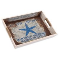 Zuo® Small Nautical Tray in Blue