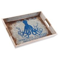 Zuo® Large Nautical Tray in Blue