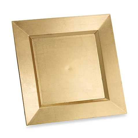 Square 13-Inch Charger in Gold
