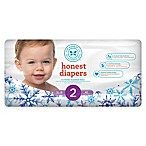Honest Limited Edition 40-Pack Size 2 Diapers in Falling Snowflake Pattern