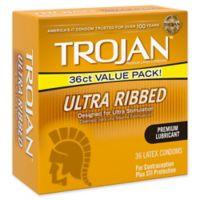 Trojan® Stimulations 36-Count Ultra Ribbed Spermicidal Lubricant Premium Latex Condoms
