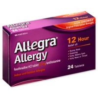 Allegra 24-Count 60 mg.12 Hour Allergy Relief Tablets