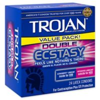 Trojan™ 24-Count Double Ecstacy Lubricated Latex Condoms