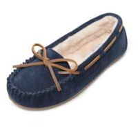 Minnetonka® Size 6 Angelia Women's Trapper Slippers in Dark Navy