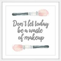 "Marmont Hill ""No Waste of Makeup"" 12-Inch Square Framed Wall Art"
