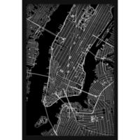 Marmont Hill NY Grid 12-Inch x 18-Inch Shadow Box Wall Art