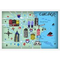 Marmont Hill Chicago Architecture 30-Inch x Canvas Wall Art with Shadow Box Frame