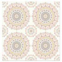 Gemma Boho Medallion Wallpaper in Light Pink