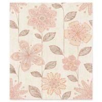 Brewster Home Maisie Batif Floral Wallpaper in Coral