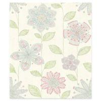 Brewster Home Maisie Batif Floral Wallpaper in Green